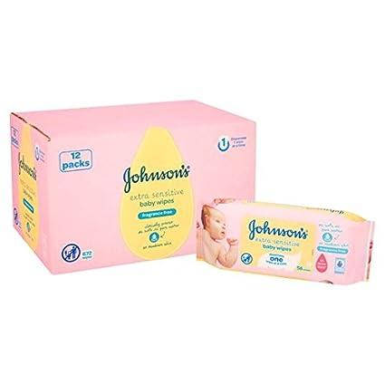 Bebé de Johnson extra sensible Toallitas 12 x 56 por paquete