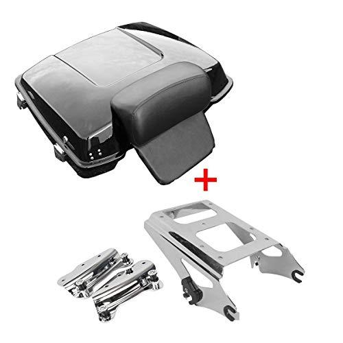 (XFMT Razor Tour Pak Pack Trunk &Chrome Mounting Rack & Docking Hardware Kits Compatible with Harley Davidson Touring 2009-2013 FLHR, FLHRC, FLHT, FLHX, FLTR, FLTRX, FLHRSE5, FLHXSE/2/3, FLTRSE3)