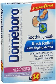 Domeboro Soothing Soak Rash Relief Powder Packets, 12 ea (Pack of 2)