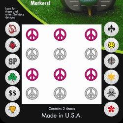 Golf Dotz Peace Tatoo Mark Your Golf Ball Unique B0089ECKN4