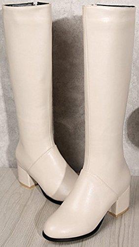 Beige Runde Up Easemax halbhohe seitliche Damen halbhohe Zip Bequeme Stiefeletten in PxS6C