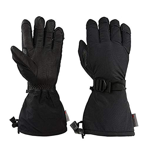 - Gloves Winter Cowhide Leather Snowboard Snowmobile Sports Motorcycle Riding Snow Ski,Black Style 1,XL