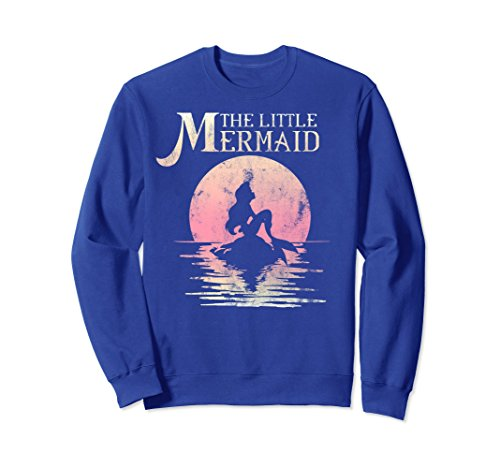 Unisex Disney The Little Mermaid Ariel Moon Silhouette Sweatshirt Medium Royal (Moon Adult Sweatshirt)