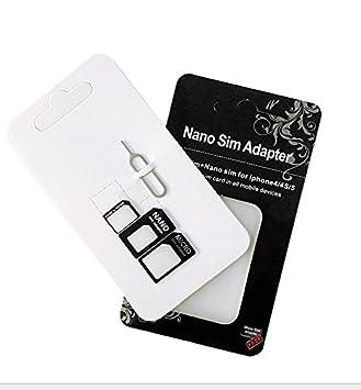 jushen Durable Nano SIM Adaptador de tarjeta para teléfono ...