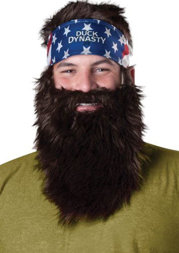 Duck Dynasty Men's Willie Plush Accessory Kit, Brown, One Size