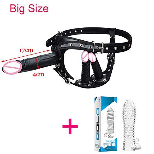 Big Strap On Dildo for Women Sex Toys Huge Silicone Triple Strapons Dildo Anal Plug Panty Lesbian G Spot Stimulator Vibrator Black Big Vibrator