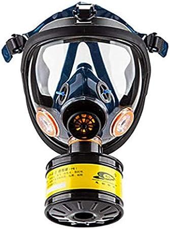 WUAZ Máscara De Gas Cara Completa Caucho De Calidad Filtro De Carbón Activado Doble Filtro Protección De Ojos Puede Usarse para Gases Orgánicos