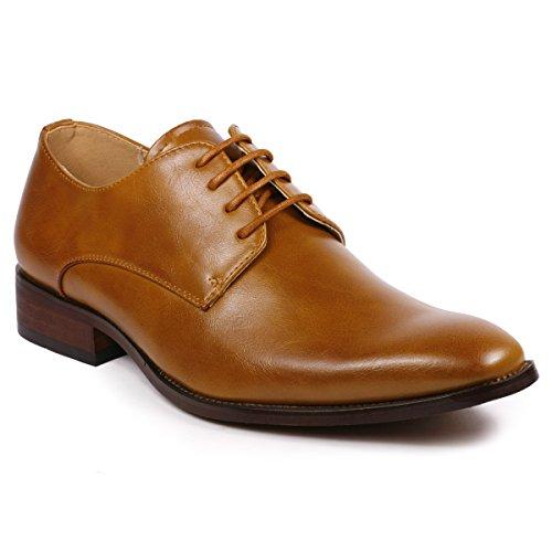 Metrocharm MC111 Lace Up Oxford Classic Dress Shoes (13, (Tan Mens Shoes)