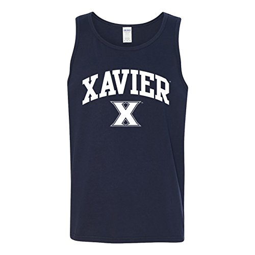 UGP Campus Apparel AT03 - Xavier University Musketeers Arch Logo Mens Tank Top - 2X-Large - Navy
