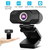 HD Webcam,Homga PC Webcam 1080P Game Web Camera USB Webcam with Microphone Desktop Laptop Camera for Video Calling Conferencing Recording and Streaming (HD Webcam)