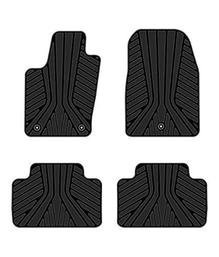 Kaungka Heavy Rubber Car Front Floor Mats Compatible for 2011 2012 2013 2014 2015 2016 2017 2018 Jeep Grand Cherokee -All weather and Season Protection Car Carpet