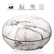 Venoro Essential Oil Diffuser, 300ml Marble Grain Air Aromatherapy Ultrasonic Aroma Cool Mist Humidifier with 7 Color LED Lights for Office Home Bedroom Fitness Room Study Yoga Spa (Marble Grain)