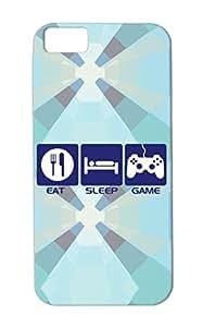 Dirtproof TPU Gaming Nerd Geek Video Games Gamer Life Gaming Sleep Eat Game Navy For Iphone 5c Eat Sleep Game Case Cover