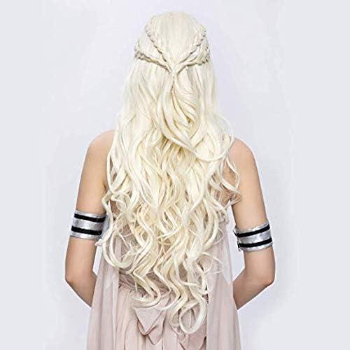 Targaryen Cosplay Peluca Juego de Tronos Daenerys Pelo Sintético ...