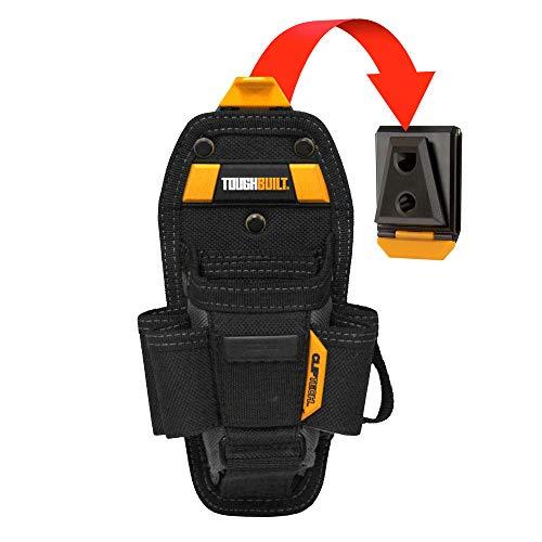 ToughBuilt - Technician 7 Pocket Pouch (Medium) | 11 Pockets & Loop, 2 Adjustable bags, 4 Snug-fit Screwdrivers Holster, Secure Multi-Tool Holder Accessory (ClipTech Hub & Belts) (TB-CT-36-M7)