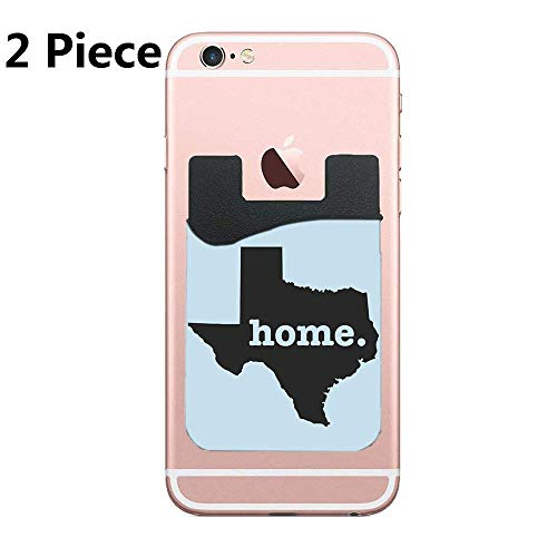 ZninesOnhOLD Phone Card Holder, Pofesun 2 Pack Mix Color Adhesive Sticker ID Credit Card Wallet Pocket Pouch Sleeve Universal Compatible for Smartphone, iPhone - Texas Home