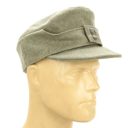 German WWII M43 Cap in Field Grey Wool- Size 7.50 (60 cm)