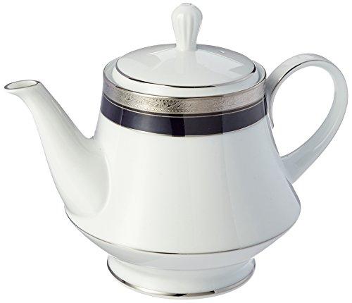 Noritake Crestwood Cobalt Platinum Tea Pot (Cobalt Teapot)