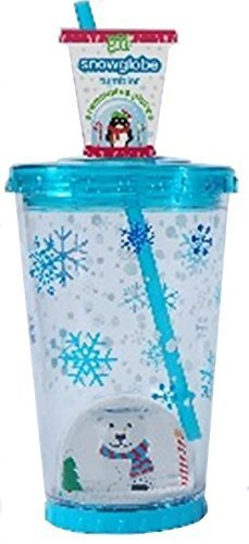 Cool Gear Candy Cane Snowglobe Tumbler 21 Ounce with remo...