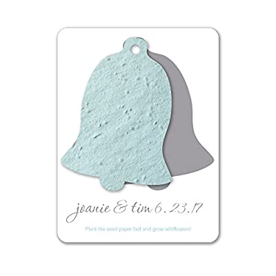 Bloomin Plantable Wedding Bell Wedding Favor with Seed Paper (25 Card Set)