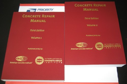 concrete repair manual 3rd edition icri third edition aci rh amazon com icri - aci 1999. concrete repair manual ACI Manual of Concrete