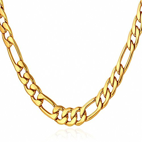 4.5MM Wide Men's Stainless Steel 18K Gold Cuban - Stainless Steel Cuban Gold Chain
