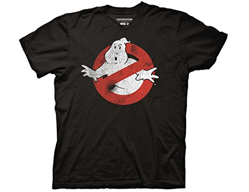 Ripple Junction Ghostbusters Distressed No Ghost No Type Adult T-Shirt XL Black