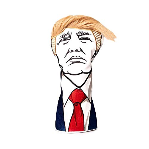 Keep America Great Premium Driver Headcover - Quality Leather, Hand-Made 1 Wood Head Cover - Style and Customize Your Golf Bag - Tour Inspired, Donald Trump Golf Design ()