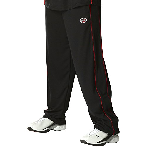 Otomix Men's Techno Mesh Ultimate Baggy Muscle Workout Pants (Small, Black/Red)