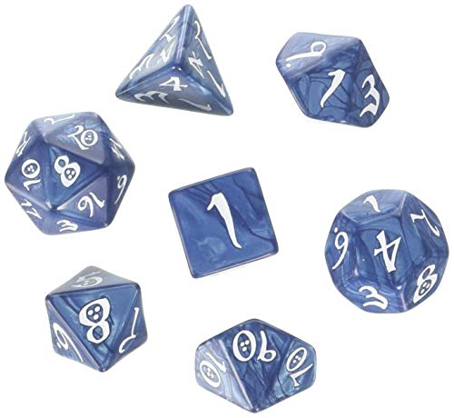 Q Workshop Classic RPG Cobalt & White Dice Set