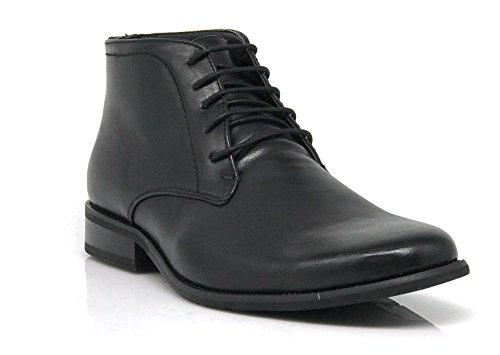 Chris01 Men's Chukka Ankle Dress Boots P - Black Plain Boots Shopping Results