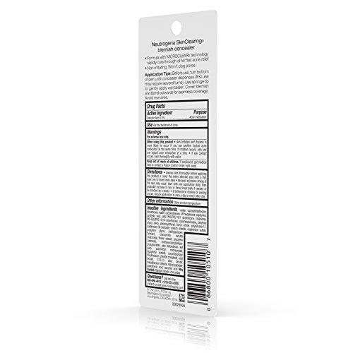 Neutrogena Skinclearing Blemish Concealer, Light 10.05 Oz.