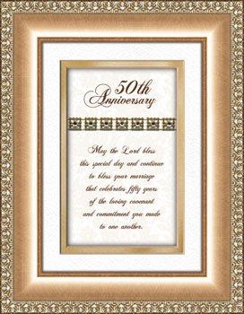 50th Golden Wedding Anniversary Gift Framed Verse Picture Print Heartfelt