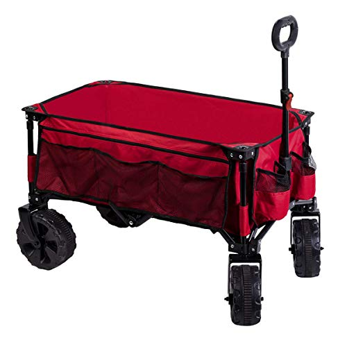 Timber Ridge Folding Camping Collapsible Sturdy Steel Frame Garden/Beach Wagon/Cart Heavy Duty