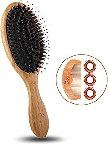 Sweepstakes: Black egg Boar Bristle Hair Brush with...