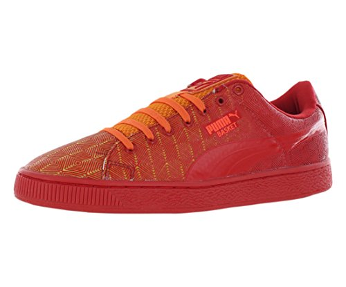 Puma Korg Blekna 3d Mens Sneakers Storlek Us 7.5, Regelbunden Bredd, Färg Röd / Orange