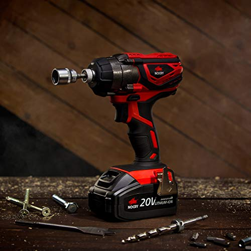 NoCry 20V Cordless Impact Driver Kit - 120 ft-lb (160 N.m) Torque, 3000 Max RPM/IPM, 1/4 inch Hex Chuck, LED Work Light, Belt Clip; 3.0 Ah Battery, Fast Charger & Carrying Case Included by NoCry (Image #4)
