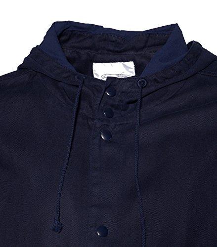 American Vintage - Abrigo - trenca - Básico - para hombre azul marino S: Amazon.es: Ropa y accesorios