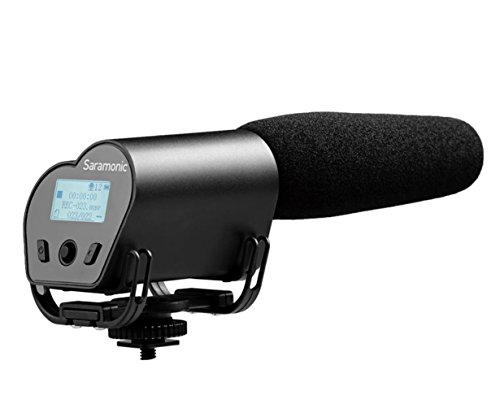 Saramonic VMIC Recorder Super-Cardioid Video Microphone with Built-in Audio Recorder for DSLR Cameras by Saramonic
