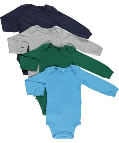 4955d399ef0f Carter s Baby Boys 4-pack Long-sleeve Bodysuits (NB-24M) (24 Months ...