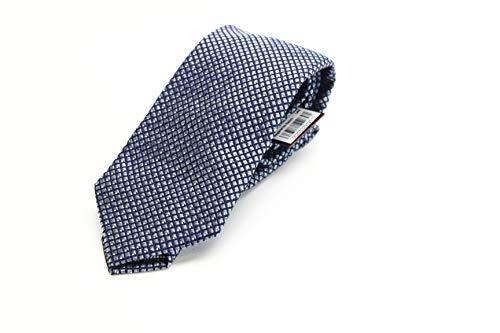 (John Varvatos Basket Woven NonSolid Men's Neck Tie Silk Gray Not)
