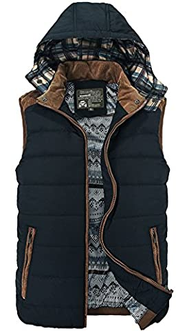 Mens Padded Body Warmer Puffer Vest Active Bodywarmer Gilet Hoodie Black XS - Micro Puff Vest