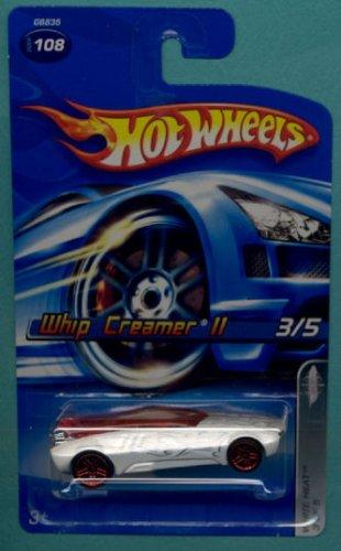 Mattel Hot Wheels 2005 1:64 Scale White Whip Creamer II Die Cast Car #108
