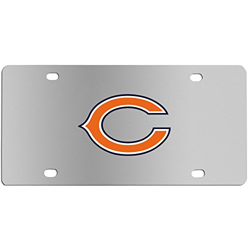 Siskiyou NFL Chicago Bears Steel License Plate with Digital Graphics -