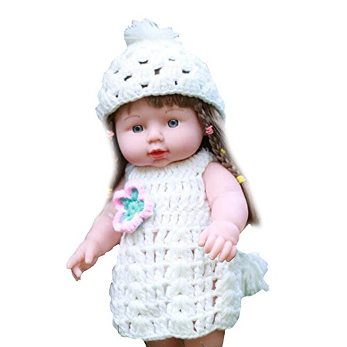 Banne Park Rids Toys Baby 12 Inch Vinynu Silicone Lifelike Sweater Washable Soft Body Caucasian Play Doll For (Princess Peach Baby Costume)