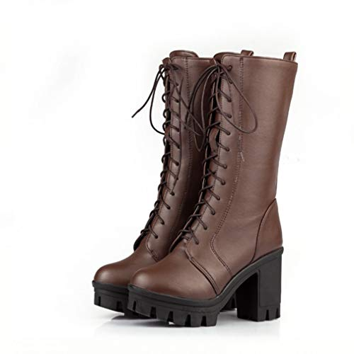 79b8c257d047 T-JULY Japan Lolita Sweet Cross Straps Knee-high Boots for Women Thick High