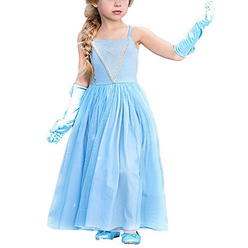 Cinderella Dress Princess Costume Halloween Party Dress up]()