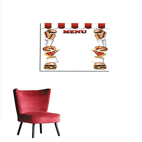 homehot Art Decor Decals Stickers Fast Food menu Frame from Fast Food Mural -