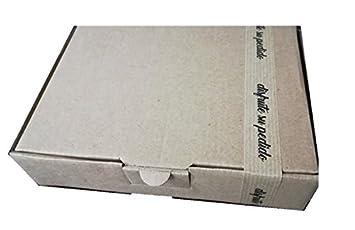50 Cajas de cartón 33 x 22,5 x 5 cm con precinto Disfrute de su pedido: Amazon.es: Oficina y papelería