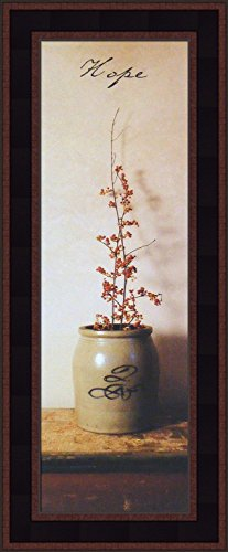 - Hope by Billy Jacobs 9x21 Primitive Photography Antique Jug Crock Folk Art Inspirational Décor Framed Print Picture